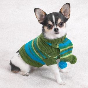 Chilly-Day-Dog-Sweater-with-Pom-Pom-Scarf