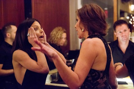 "THE REAL HOUSEWIVES OF NEW YORK CITY -- ""New Beginnings, My Ass"" Episode 719 -- Pictured: (l-r) Bethenny Frankel, LuAnn de Lesseps -- (Photo by: Heidi Gutman/Bravo)"